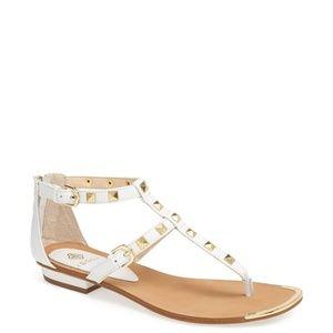 Isola Adie white sandals 8